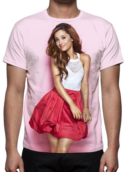 Camiseta Pop Cantora Ariana Grande - Frete Grátis