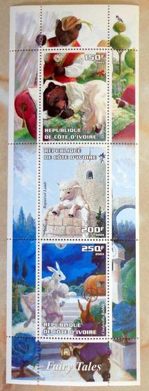 Costa Marfil, Bloque 3 Sellos Infantiles 2003 Mint L7469