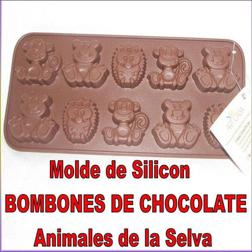 Molde Silicon Bombones Chocolate  Animal Granja Selva