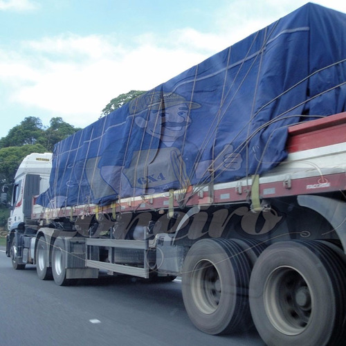 Lona Ripstop Azul 9x5,5 Encerado Caminhão Truck Carga Normal