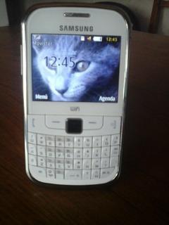 Celular Samsung Gt-s3350 Movistar Poco Uso +funda