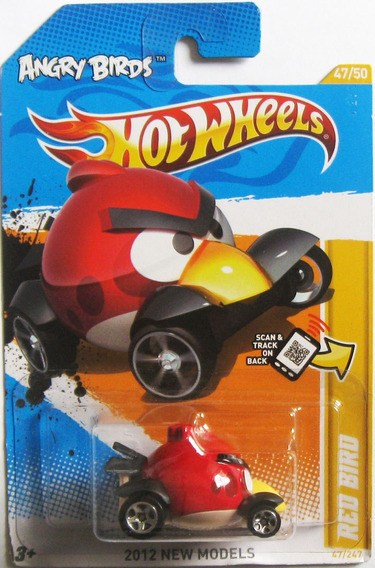 Hot Wheels, Angry Birds Minion Pig - Red Bird, Escala 1/64
