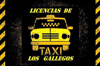 Licencia De Taxi + Reloj + Pintura De Techo -los Gallegos-