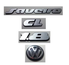 Kit Emblema Volkswagen Saveiro Cl 1.8 Logo Vw Mala 90 À 97