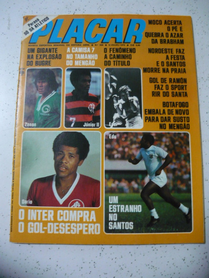 Revista Placar 326 Socrates Inter Santos Bahia Flamengo 1976