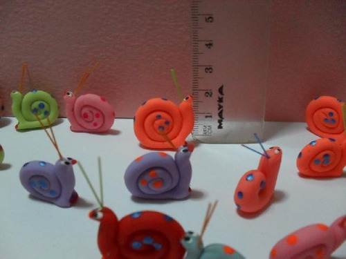 Caracoles Miniatura En Masa Flexible Precio Docena
