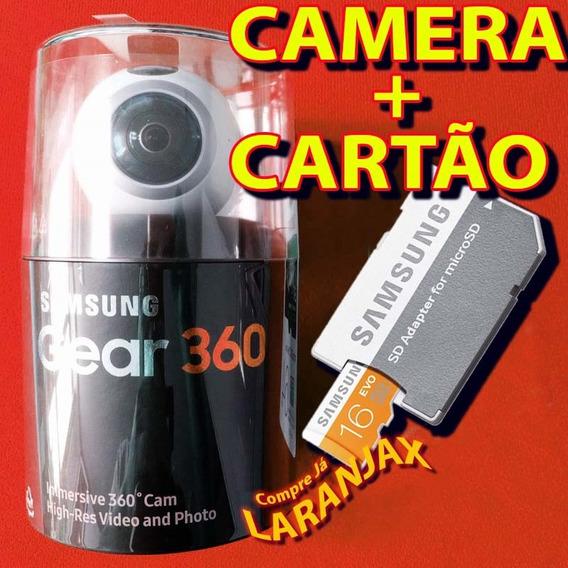 Câmera Samsung Gear 360º 4k + Cartão Grátis, Filmadora Fotos