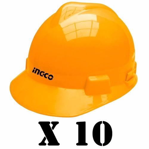 Kit Security Ingco 10 Cascos Amarillos Oferta Irresistible