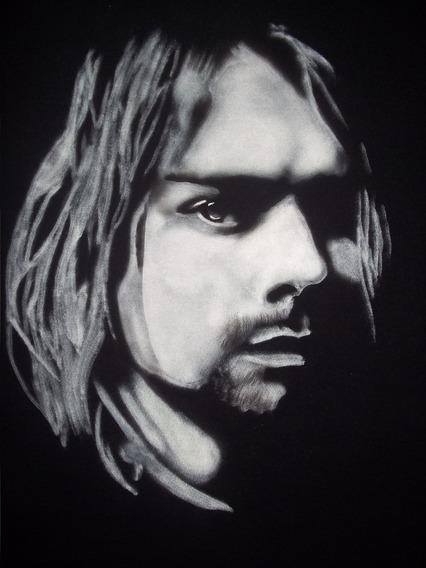 Playera Kurt Cobain, Nirvana, Aerografia