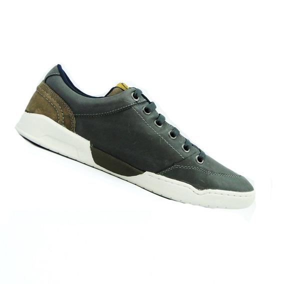 Sapatênis Masc. Couro Fork Footwear Kiss Grafite 21304-13