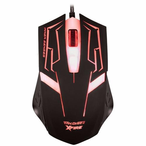 Mouse Gamer Tecdrive Xfire Skanda 3200 Dpi 7 Botões Vermelho