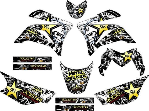 Kit Adesivos Gráfico Moto Trilha Crf 150 250x 250r 450x 450r
