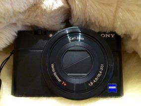 Câmera Sony Rx100 Capa De Couro Original Filma Hd 1º Modelo