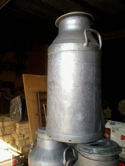 Tachos De Leche 50 Litros Aluminio Adorno
