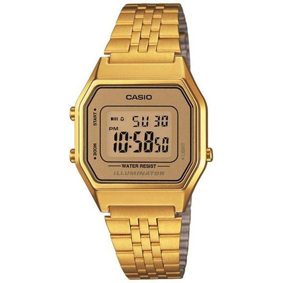 Relogio Casio Dourado La680wga-9 Com Caixa E Nota Fiscal
