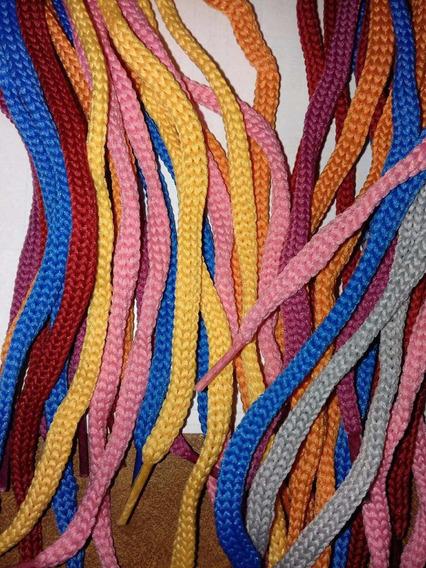 Cordones Redondos 60 Cm X 12 Pares Colores Surtidos