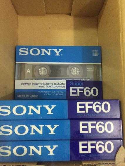 Fita Cassete Virgem Sony C-60 Ef Embalagem Lacrada!!
