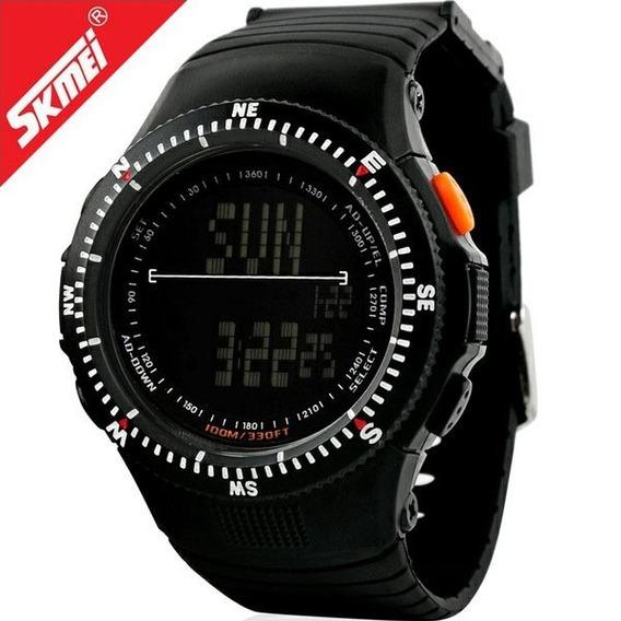 Relógio Militar Skmei 5 Atm Com Garantia - Preto