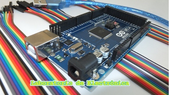 Kit Arduino Mega R3 + Cable Usb + Cables Mm, Hh Y Mh 40pin