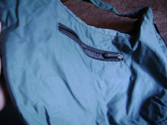 Bolso Marca Chenson 3 Cierres Color Petroleo