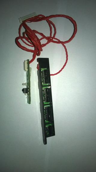 Teclado De Funções E Sensor Do Controle Tv Semp Le3973(a)f
