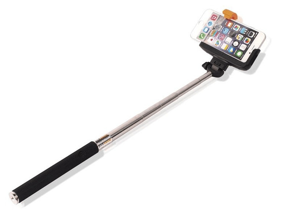 Bastão De Selfie Para Fotos Bluetooth Com Base Emborrachada