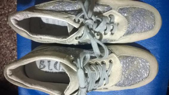 Zapatillas Número 36 Cuero-detalles Stras-plantilla 22.5cm#2