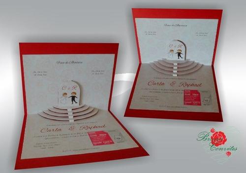 Imagem 1 de 4 de 100 Convite De Casamento - Esp. 04
