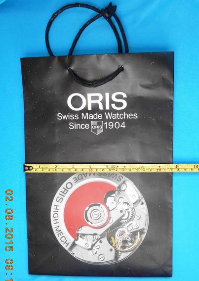 Bolsa Asa Papel Original Marca Oris 32 X 22 X 10 Cm.