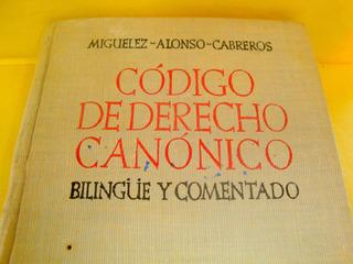 Codigo Derecho Canonico Bilingue Y Comentado 1952 Libro Usad