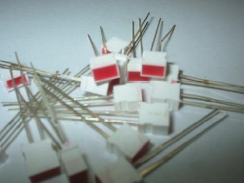 Leds Retangular Vermelho 6 X 4 X 7 Mm 10 Peças Frete Gratis