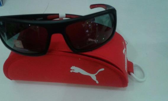 Oculos Solar Puma Rush Pu15045, Preto Fosco