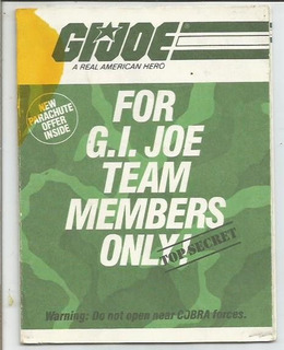 Gi Joe A Real American Hero/ Catalogo / Usa / Dec 80´ Hasbro