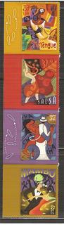2005 Estados Unidos Bailes Mambo Salsa Música Sc 3939-42 Mnh