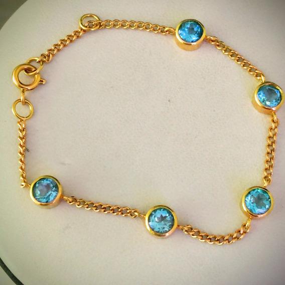 Colar-pulseira Ouro 18k-750-7.7gr.belissimo Conjunto.