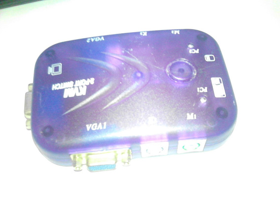 Kvm 2 Portas Vga E Mouse