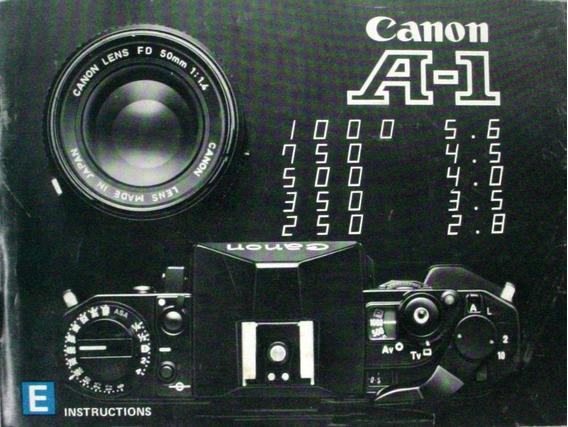 Canon A-1 Manual De Instruções Em Ingles