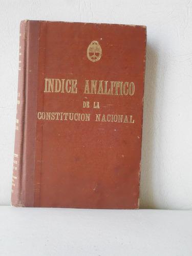 Libro Índice Analítico De La Constitución Nacional