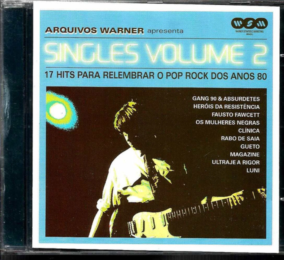 Cd Arquivos Warner Singles Volume 2 Hits Pop Rock 80