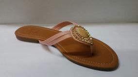 Rasteiras Holly Shoes Com Pedraria
