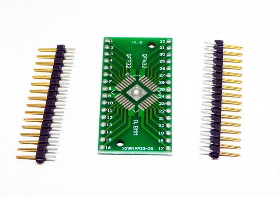Adaptador Smd Tqfp 32 Passo 0,8mm 0,65p/ Protoboard C/ Pinos