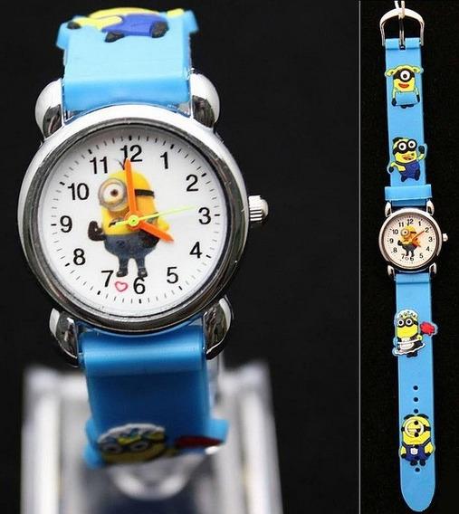Relógio Minions Infantil Criança Pulseira 3d
