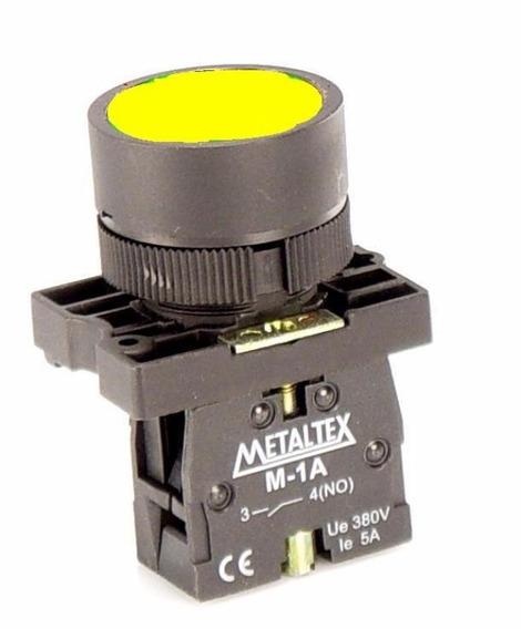 Botao Pulsador Amarelo 1na P20bfr-y-1a