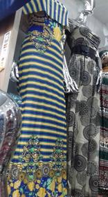 Vestidos Longos Listrados Moda Evangelica