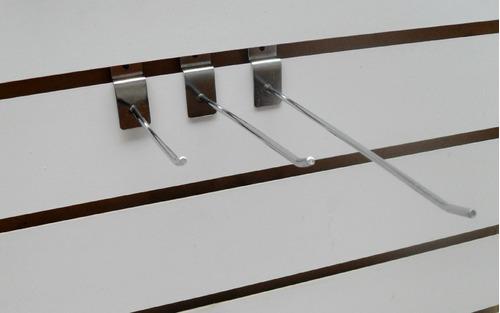 Imagen 1 de 5 de 30 Mensulas Ganchos De Panel Ranurado 15 Cm