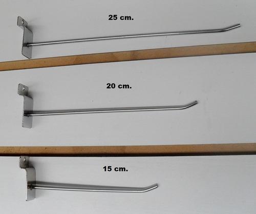 Ganchos Para Panel Ranurado 20cm X 10 Unidades