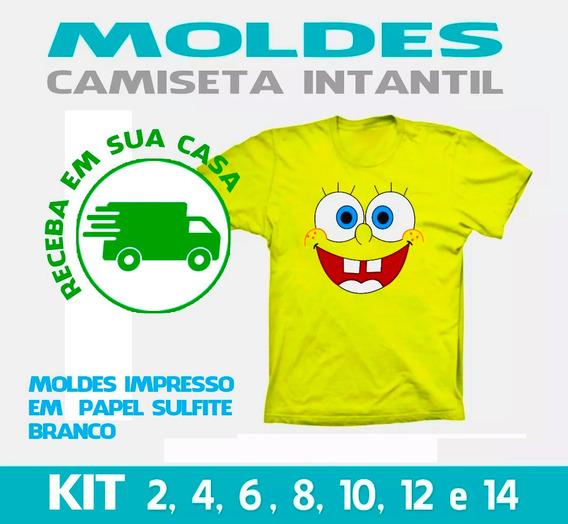 Molde Camiseta Para Criança - Papel Sulfite