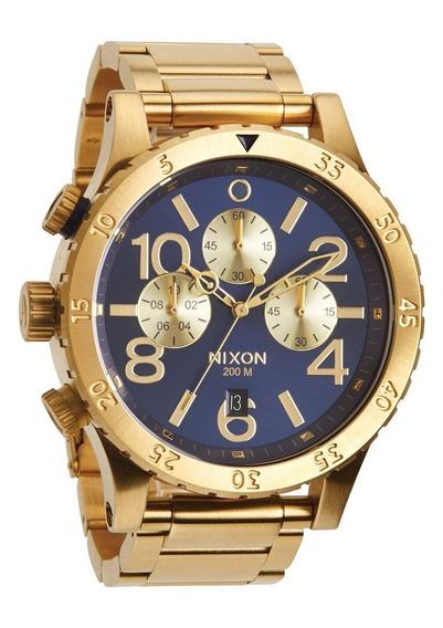 Reloj Nixon 48 20 Acero Oro Crono A486-1922 Garantia