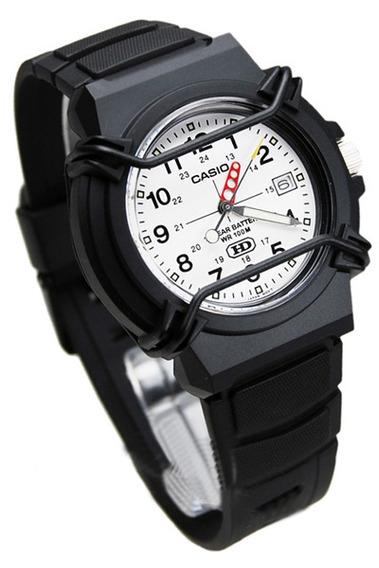 Relógio Casio Hda-600b-7bv Analógico Mostrador Branco 100m