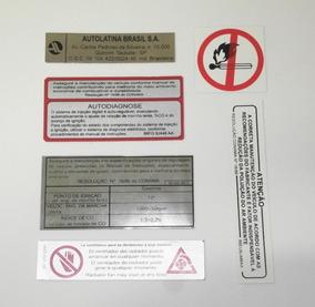 Ford Escort Antigo + Sapão Adesivos Com Informações Técnicas
